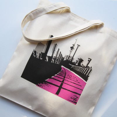 Eco Art Bag – Pink Road Image