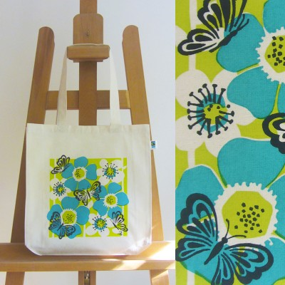 Fairtrade Butterfly Bag (turquoise) Image