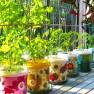 Planter Pot – Retro Floral Image