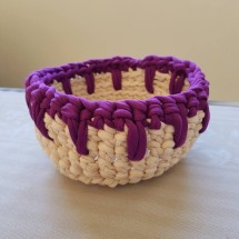 Violet crochet basket