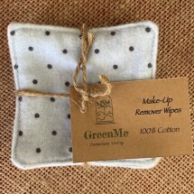 100% Cotton Make Up Remover Wipe - 5 Pack - BLUE SPOT