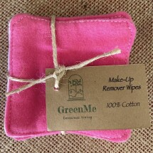 100% Cotton Make Up Remover Wipe - 5 Pack - PINK