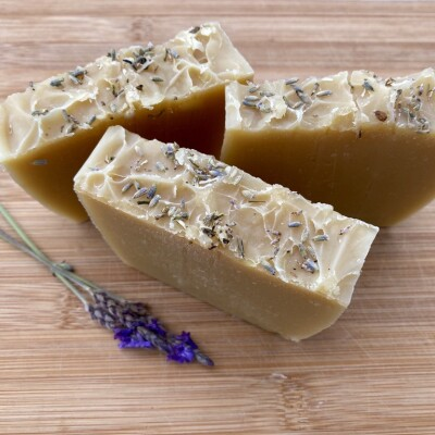 Goat Milk Lavender Handmade Soap Copy Image