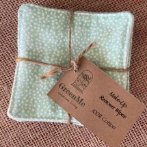100% Cotton Make Up Remover Wipe - 5 Pack - GREEN SPOT