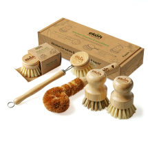 Dish Brushes & Scrubbers Bamboo Compostable Kitchen 5pk