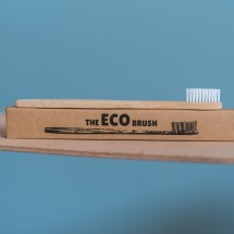 Child-Sized Bamboo Toothbrush Image