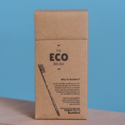 12 Pack of Bamboo Toothbrushes | The ECO Brush Image