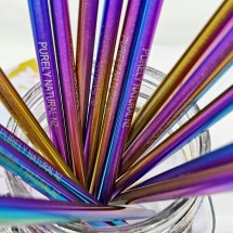 Rainbow  Drinking  Straws - 2 Pack straight Straws