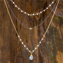 3-in-1 Moonstone Necklace