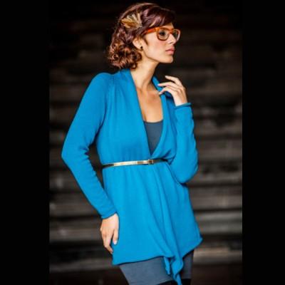 Andean Blue: alpaca/cotton cardigan Image