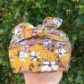 Furoshiki Gift Wrap – Mustard Magnolia (Organic) Image