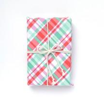 Reusable Gift Wrap - Retro Plaid