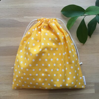 Reusable Gift Bag –  Sunny Polka Image